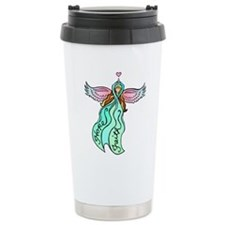 Teal Angel Travel Mug