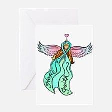 Teal Angel Greeting Card