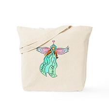 Teal Angel Tote Bag