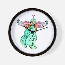 Teal Angel Wall Clock