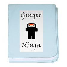 Ginger Ninja baby blanket
