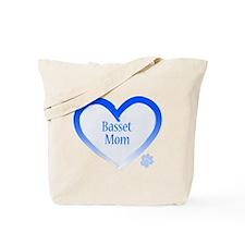 Basset Blue Heart Tote Bag