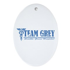Team Grey SGH Ornament (Oval)