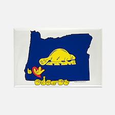 ILY Oregon Rectangle Magnet