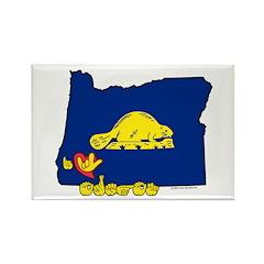 ILY Oregon Rectangle Magnet (10 pack)