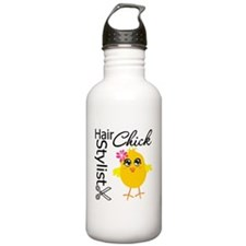 Hair Stylist Chick Water Bottle
