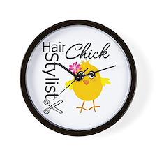 Hair Stylist Chick Wall Clock