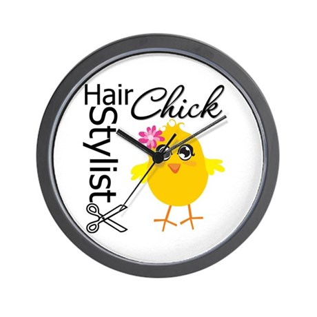 Hair Stylist Chick Wall Clock