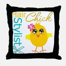 Hair Stylist Chick v2 Throw Pillow