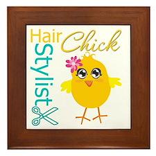 Hair Stylist Chick v2 Framed Tile