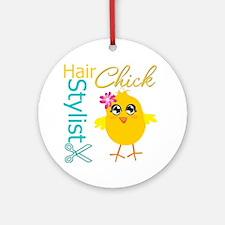 Hair Stylist Chick v2 Ornament (Round)