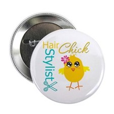 "Hair Stylist Chick v2 2.25"" Button"
