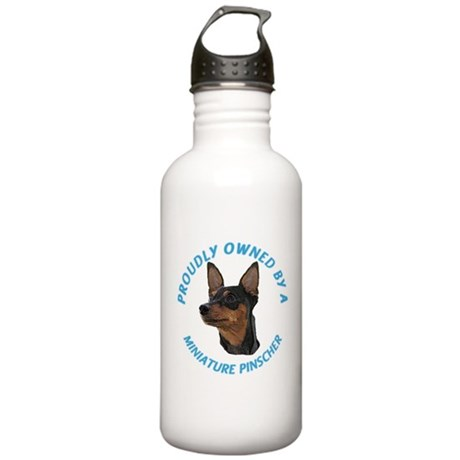 Proudly Owned Min Pin Stainless Water Bottle 1.0L