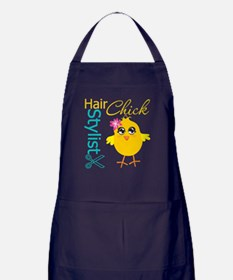 Hair Stylist Chick v2 Apron (dark)