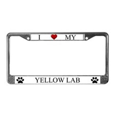 White I Love My Yellow Lab Frame