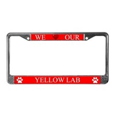 Red We Love Our Yellow Lab Frame