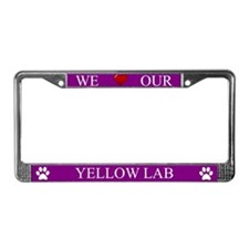 Purple We Love Our Yellow Lab Frame