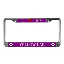 Purple I Love My Yellow Lab Frame