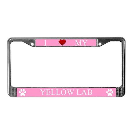 Pink I Love My Yellow Lab Frame