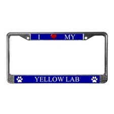Blue I Love My Yellow Lab Frame
