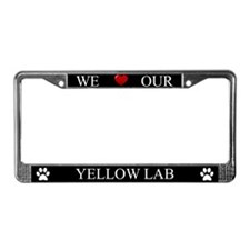 Black We Love Our Yellow Lab Frame