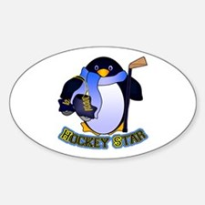 Hockey Star Sticker (Oval)