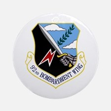 92nd Bomb Wing Ornament (Round)