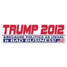 No More Politics as Usual Bumper Sticker