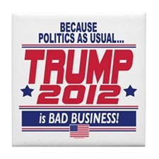 No More Politics as Usual Tile Coaster
