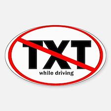 No Texting Sticker (Oval 10 pk)