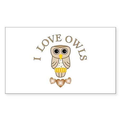 Owl Sticker (Rectangle)
