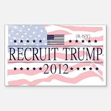 Recruit Trump 2012 Decal
