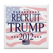 Recruit Trump 2012 Tile Coaster