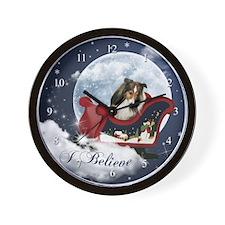 I Believe Sheltie Wall Clock
