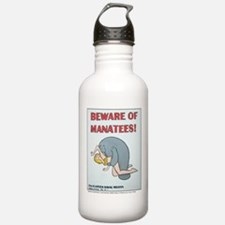 """BEWARE OF MANATEE"" Water Bottle"