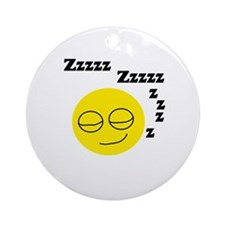 Sleeping Smiley Ornament (Round)