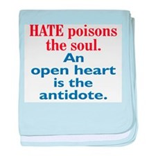 Hate Poisons baby blanket