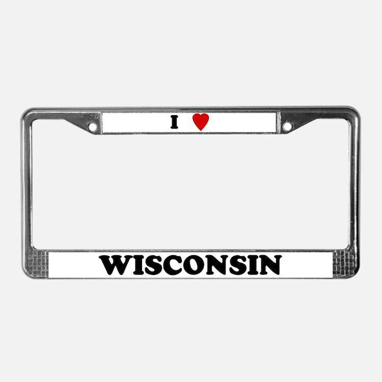 I love wisconsin licence plate frames i love wisconsin for Wisconsin fishing license price