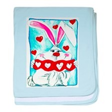 Honey Bunny Love baby blanket