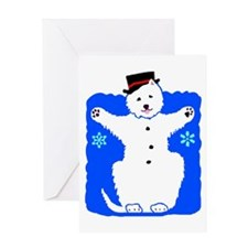 Holiday Westie Snowman Greeting Card