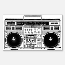 Boombox Ghettoblaster Sticker (Rectangle)