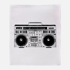 Boombox Ghettoblaster Throw Blanket