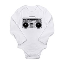 Boombox Ghettoblaster Long Sleeve Infant Bodysuit