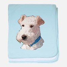 Wire Fox Terrier baby blanket