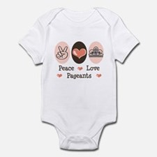 Peace Love Pageant Infant Bodysuit