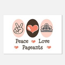 Peace Love Pageant Postcards (Package of 8)
