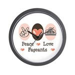 Peace Love Pageant Wall Clock