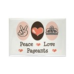 Peace Love Pageant Rectangle Magnet (10 pack)