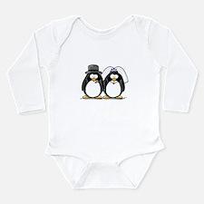 Bride and Groom Penguins Long Sleeve Infant Bodysu