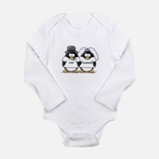 Just Married Bride and Groom Long Sleeve Infant Bo